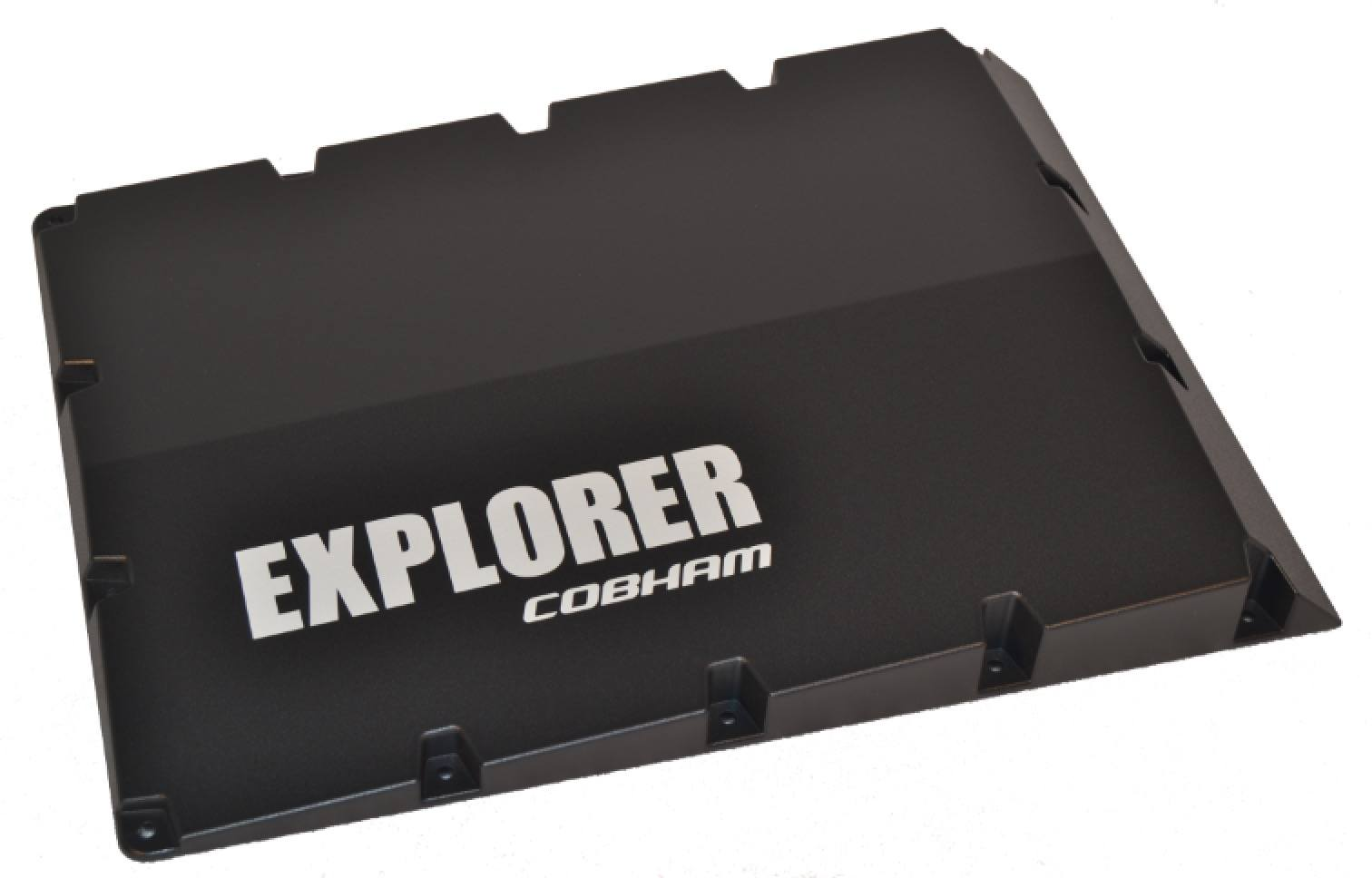 Serigrafitryk på aluminium explorer cobham